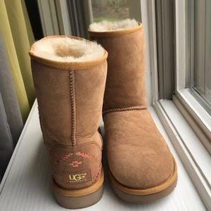 Brand new uggs never worn brown with Aztec design